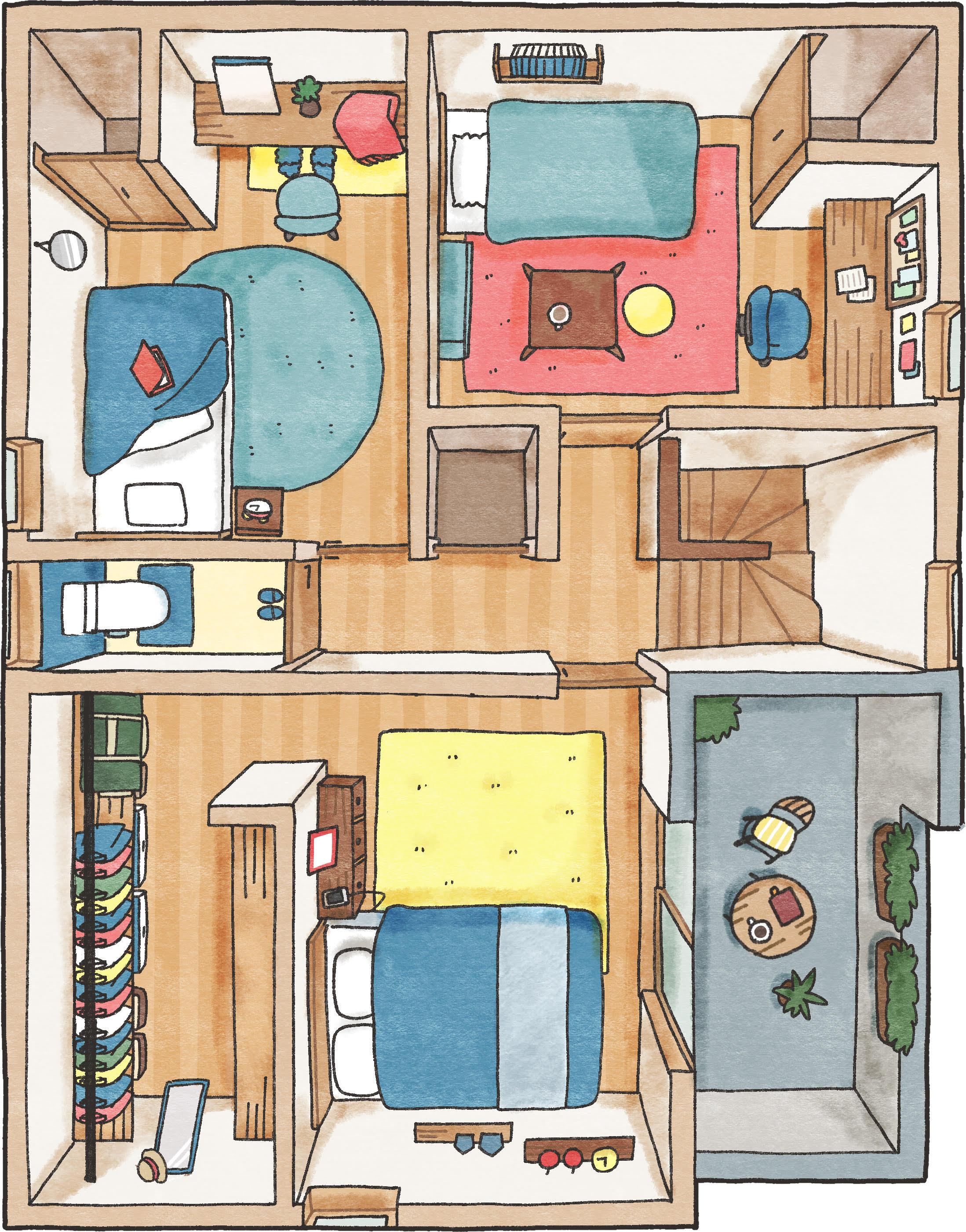 吹き抜けと広い玄関の開放的なお家